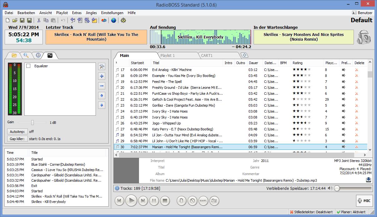 djsoft.net - RadioBOSS Radioautomationssoftware. Playlist-Generator ... RadioBOSS Radio Automation Software - Player